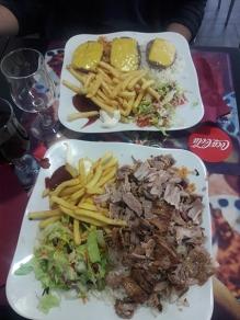 refeição Kebab