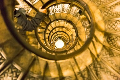escadaria do Arco do Triunfo